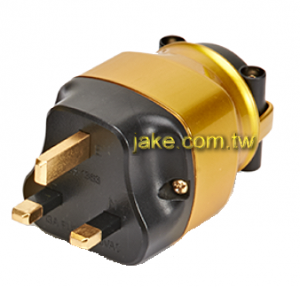 24K Gold-plated Audio Grade AC Power Britain UK Plug