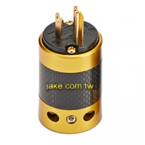 24K Gold-plated Audio Grade AC Power USA Plug