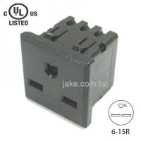 US Standard Power Socket 6-15R AC 250V 15A , PA66 Body Material