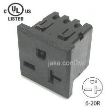 US Standard Power Socket 6-20R AC 250V 20A , PA66 Body Material