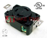 NEMA L5-30R Locking Type Receptacle, 125V AC/30A Current Rating, get UL/cUL Approved, with PC Body