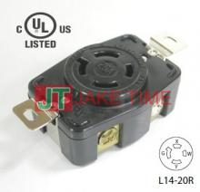 NEMA L14-20R Locking Type Receptacle, AC 125/250V 20A Current Rating, get UL/cUL Approved, with PC Body