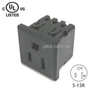 US Standard Power Socket 5-20R AC 125V 20A , PA66 Body Material