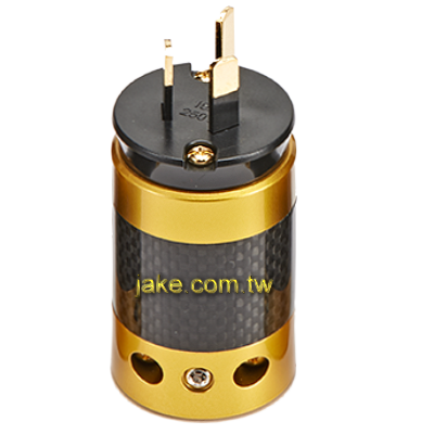 24K Gold-plated Audio Grade AC Power Australia Plug